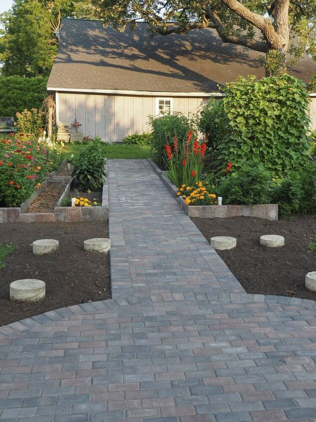 Diy Installation Of Paver Base Panel For Paver Path Part Two Hometalk