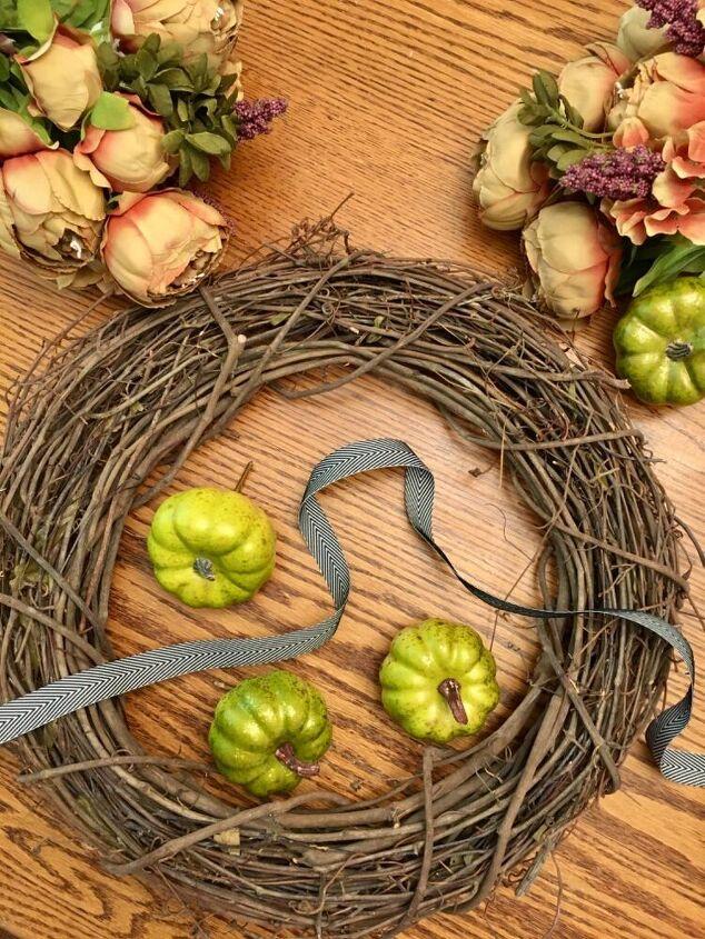 fall inspired grapevine wreath