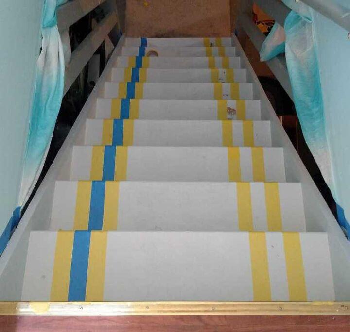 basement stair makeover