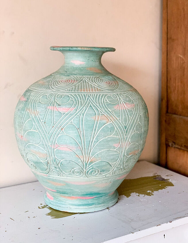easy clay pot makeover