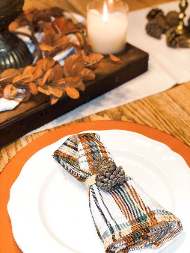 diy pine cone napkin rings
