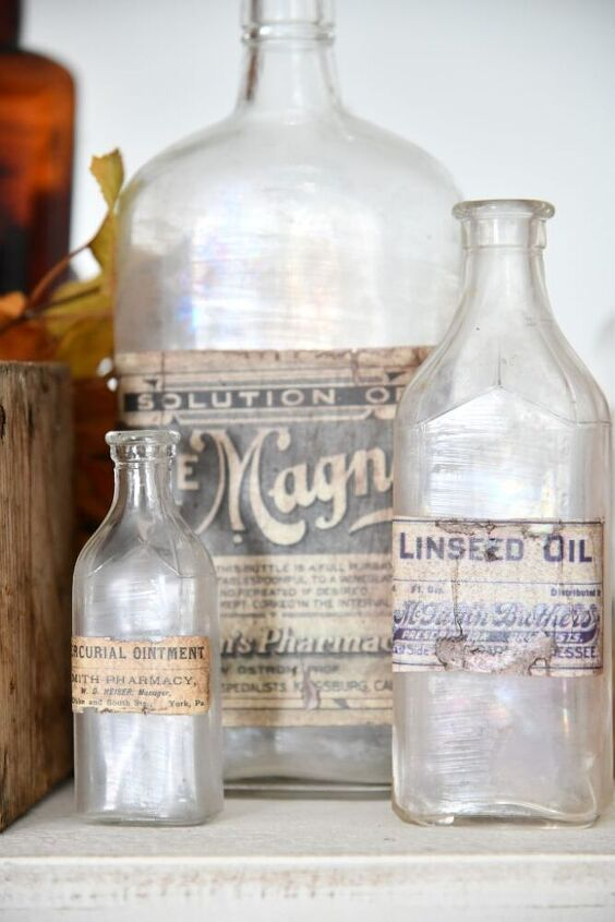 diy vintage apothecary bottles