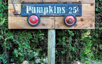 How to Create This Fall Buffalo Checked Pumpkins in a Wagon Sign!