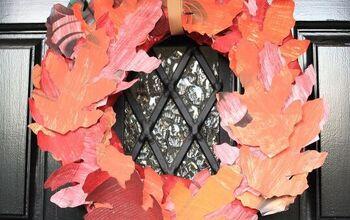 DIY Magazine Fall Wreath