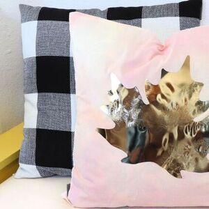 Watercolor & Gold Pillows