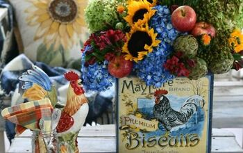 DIY 'Thinking Outside the Vase' Transitional Flower Arrangement
