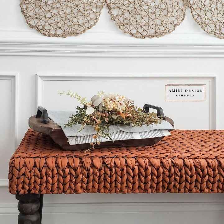 fall bench makeover