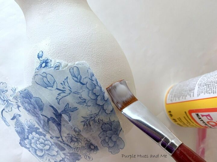 decoupage chinoiserie ginger jar with lid diy