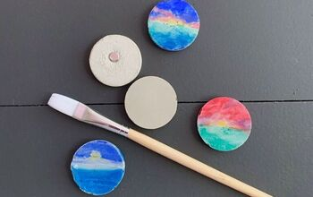 DIY Colorful Cement Magnets-Easy!
