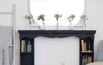 My First Milk Paint Experience – Faux Fireplace Mantel