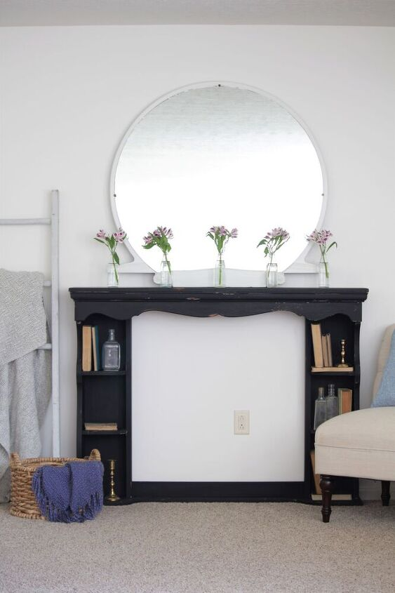 my first milk paint experience faux fireplace mantel