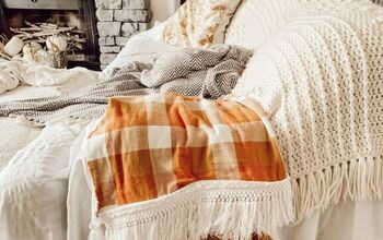 DIY Autumn Throw Blanket.