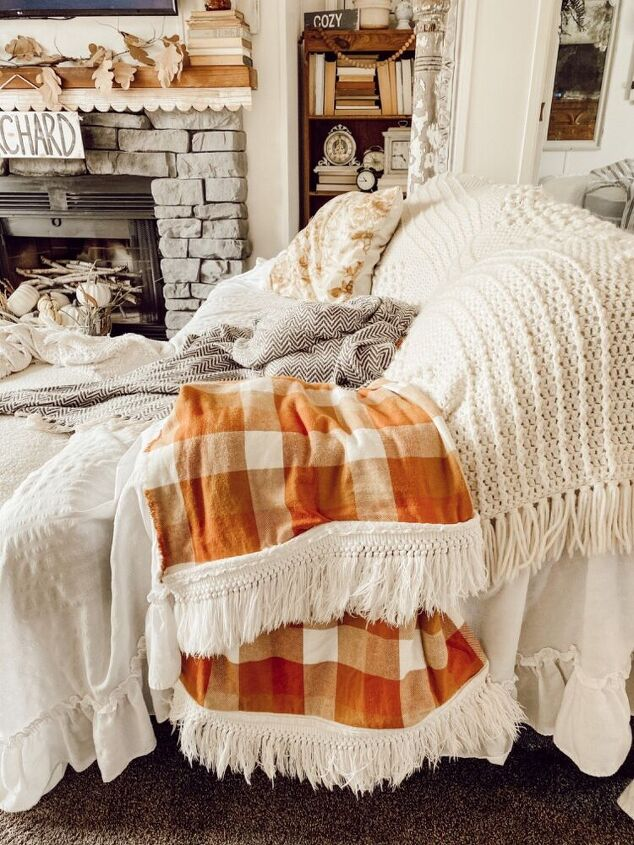 diy autumn throw blanket
