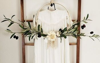 Easy Embroidery Hoop Wreath
