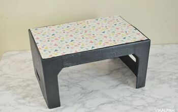 DIY Cardboard Table From Diaper Box