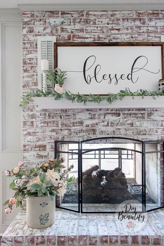 update brick fireplace with chalk paint