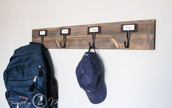 How to Make a Farmhouse Coat Rack in 5 Simple Steps