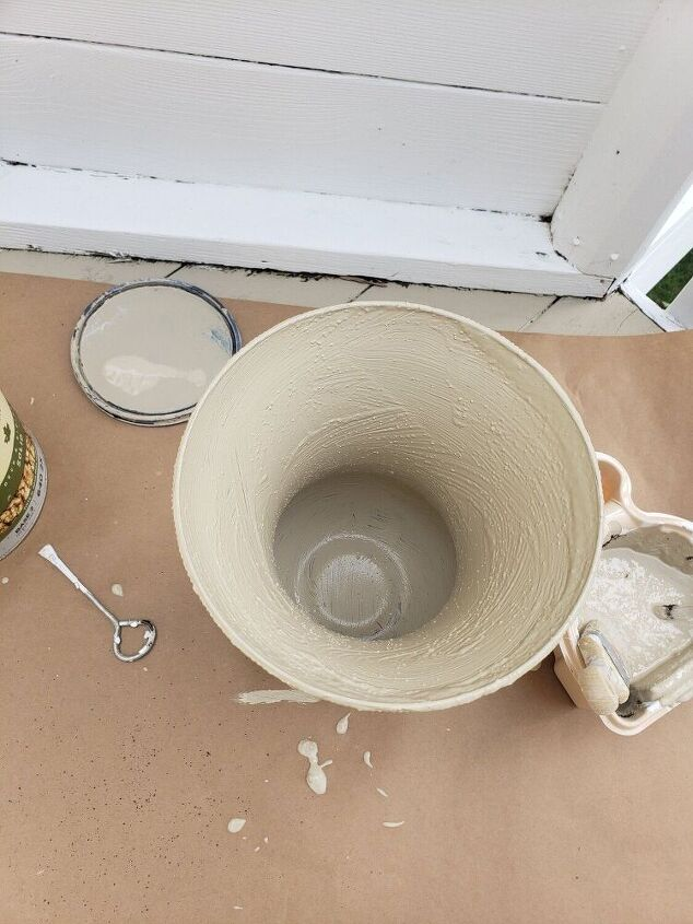 how i made glass vases look like pottery