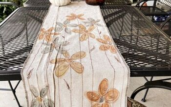DIY Hand-painted Drop Cloth Table Runner