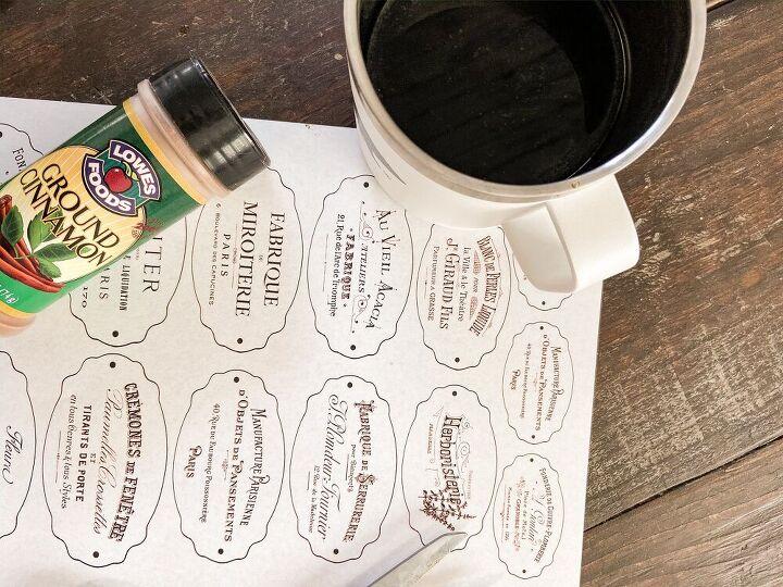 the secret to making vintage bottle labels