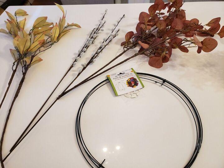3d fall wreath, Dollarama Wreath wires