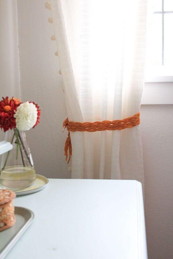 macrame curtain tie back