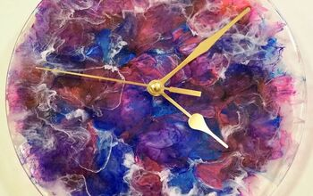 Same Day Resin & Alcohol Ink Clock