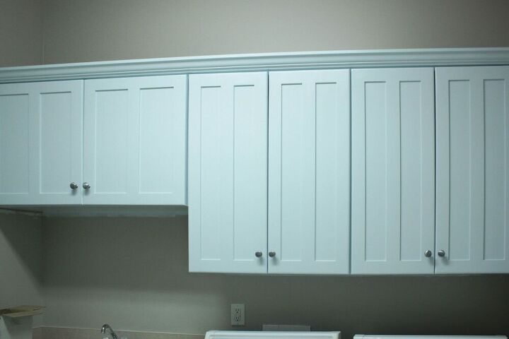 how to change the color of your laundry room cabinets