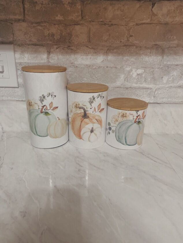 diy fall canister covers