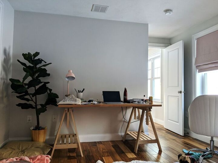 transform your guest room into an office before and after