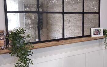 DIY Window Pane Aged Mirror