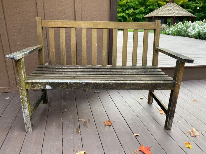 q how do i restore an outdoor bench for indoor use