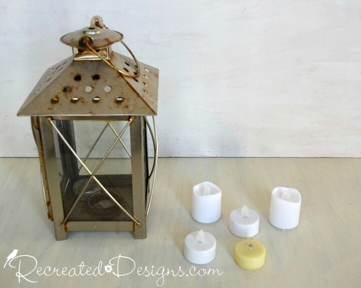 how to make cute and easy halloween decor from an old lantern