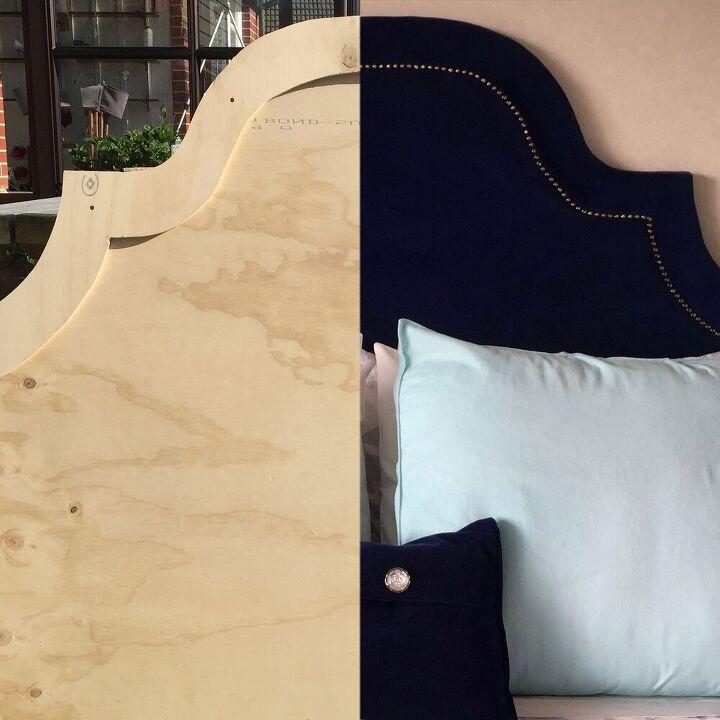 upholstered headboard with nailhead trim tutorial