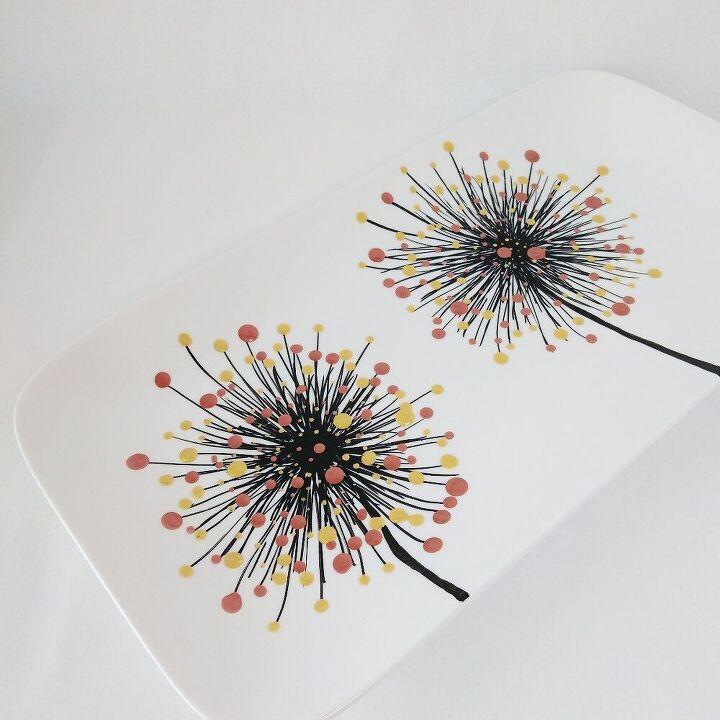 porcelain dots with porcelain paint