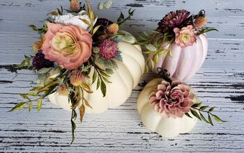Fancy Faux Pumpkins - With Wood Flowers!