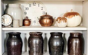 Copper Gilded Pumpkins