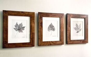 DIY Wall Art For Fall: Black & White Leaf Printing