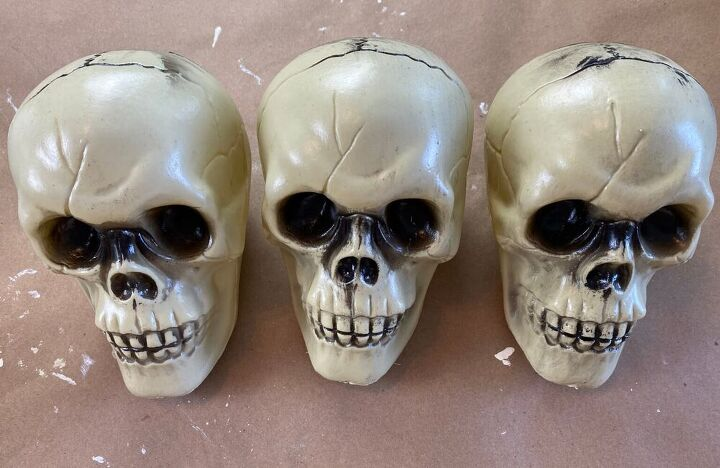 dollar store skull decoration