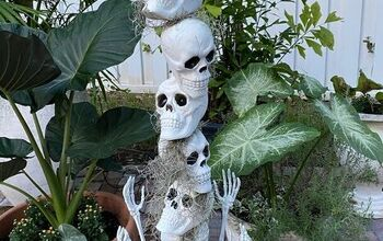 Dollar Store Skull Decoration
