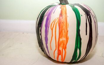 DIY Melted Crayon Pumpkin