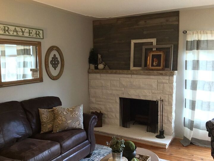 updated 1950s fireplace
