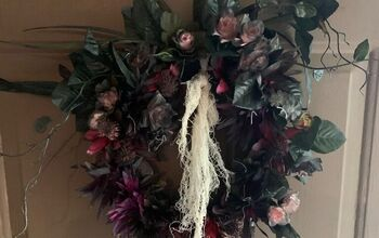 Dead Flower Halloween Wreath