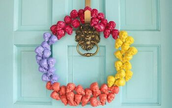 How to Make a DIY Colorful & Modern Halloween Wreath