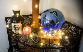 DIY Halloween Crystal Ball Decor
