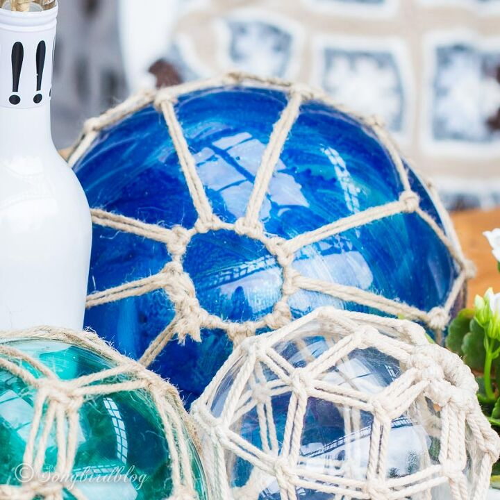 how to make glass fishing floats from thrifted lamps