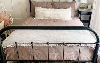 DIY Refinished Black Metal Bed