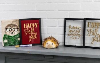 Create Your Own DIY Glass Happy Fall Y'all Sign