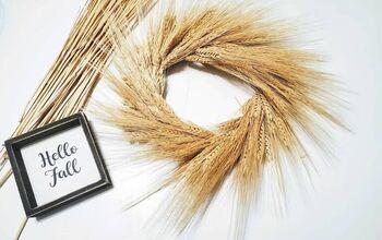 Simple DIY Wheat Wreath