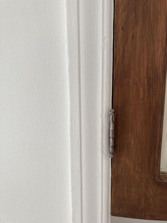 q cabinet door refinish latch hits frame
